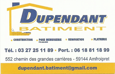 Dupendant Batiment: Construction, pose menuiseries, rénovation, platrerie