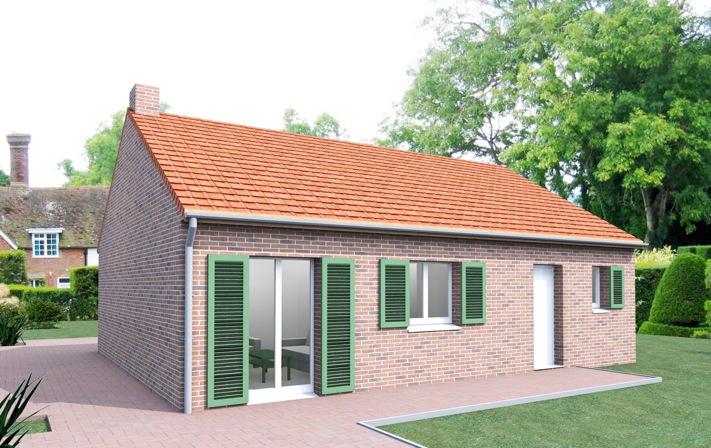 couleur maison construction notre tude menthe petite maison de plein pied. Black Bedroom Furniture Sets. Home Design Ideas