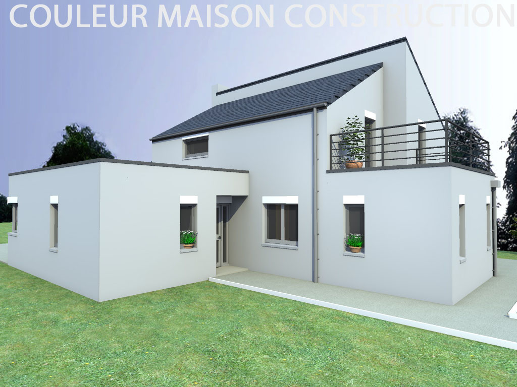 Couleur maison construction notre mod le capucine for Exemple facade maison contemporaine