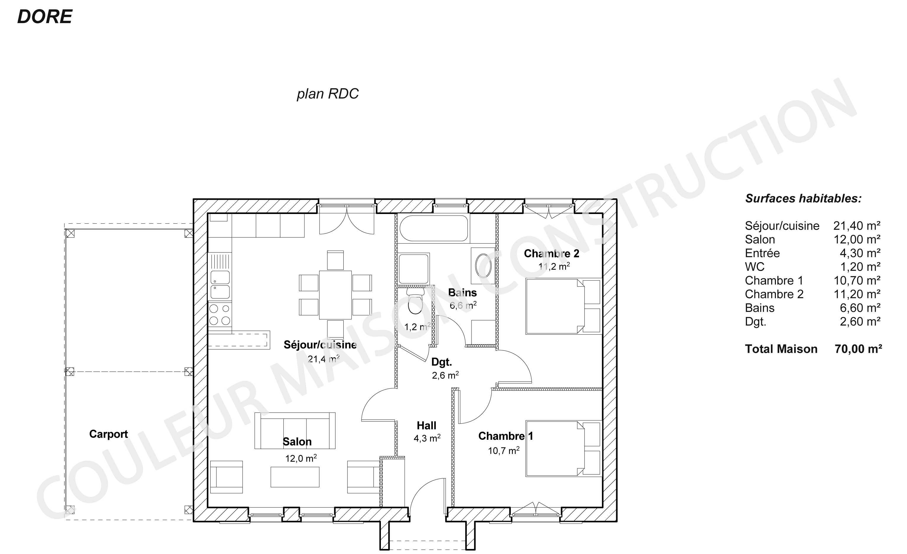 Plan de maison pdf for Exemple de plan de construction de maison gratuit