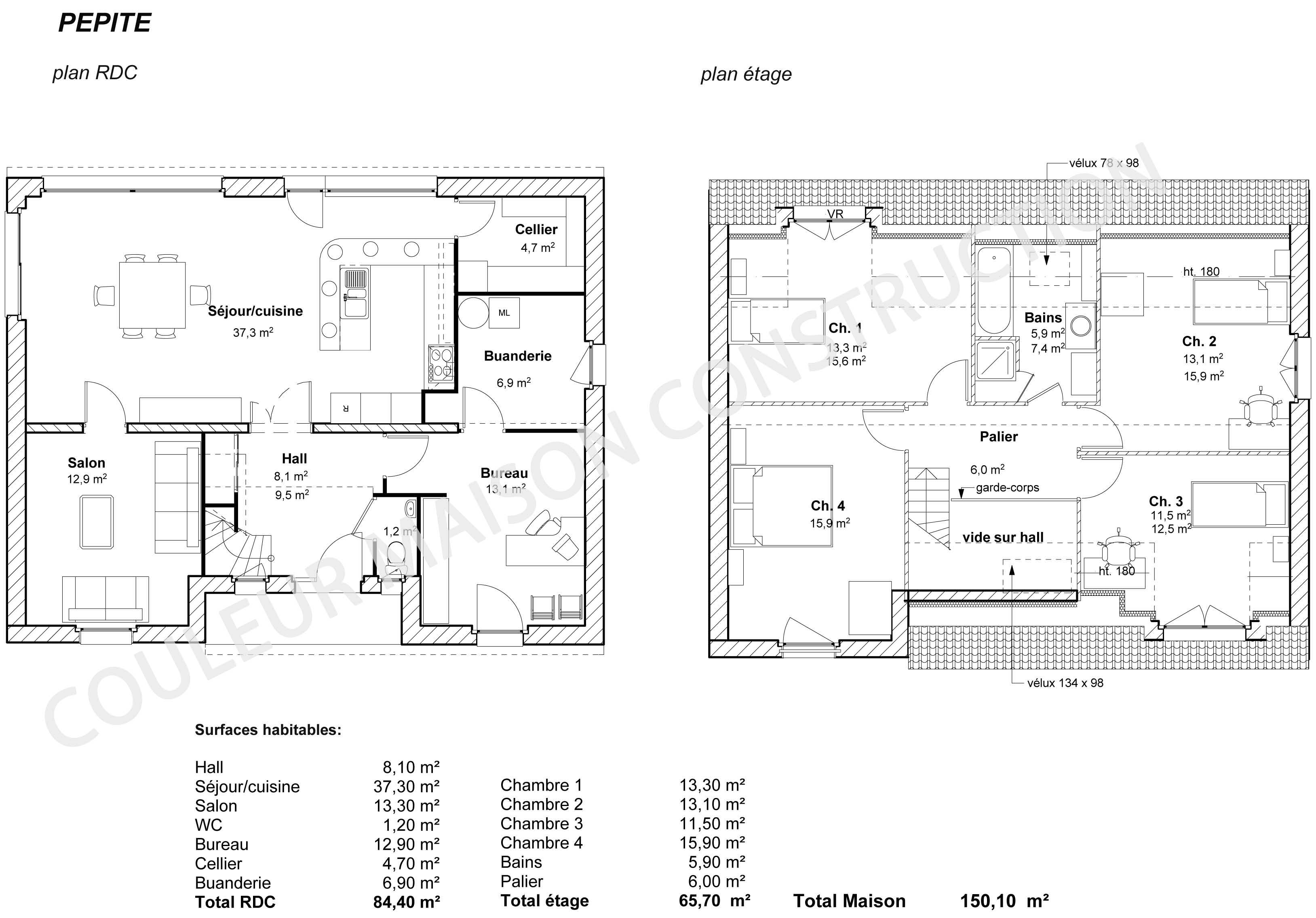 Plan maison gratuit pdf images for Plans de maison