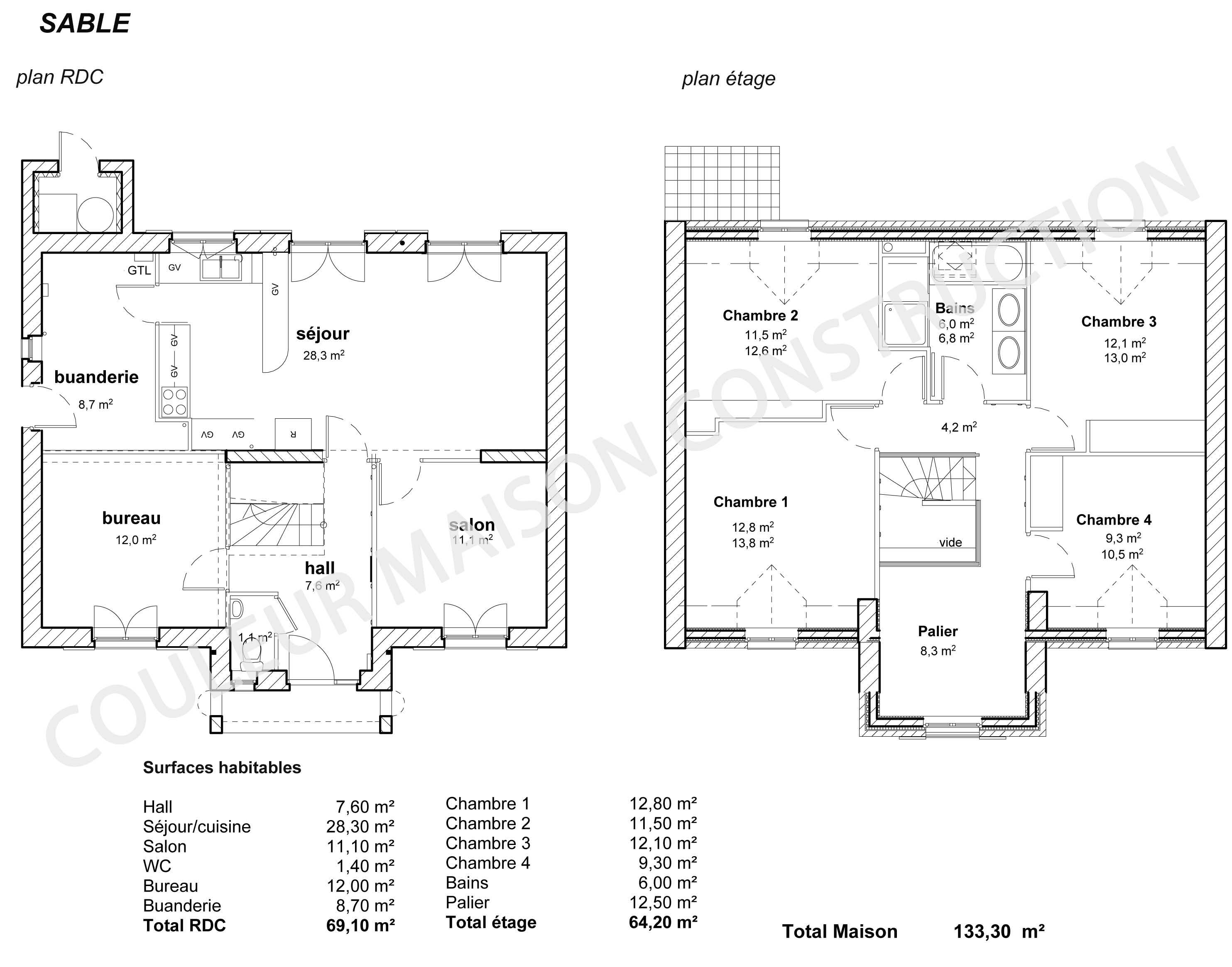 Exemple plan maison images for Exemple de plan de maison gratuit
