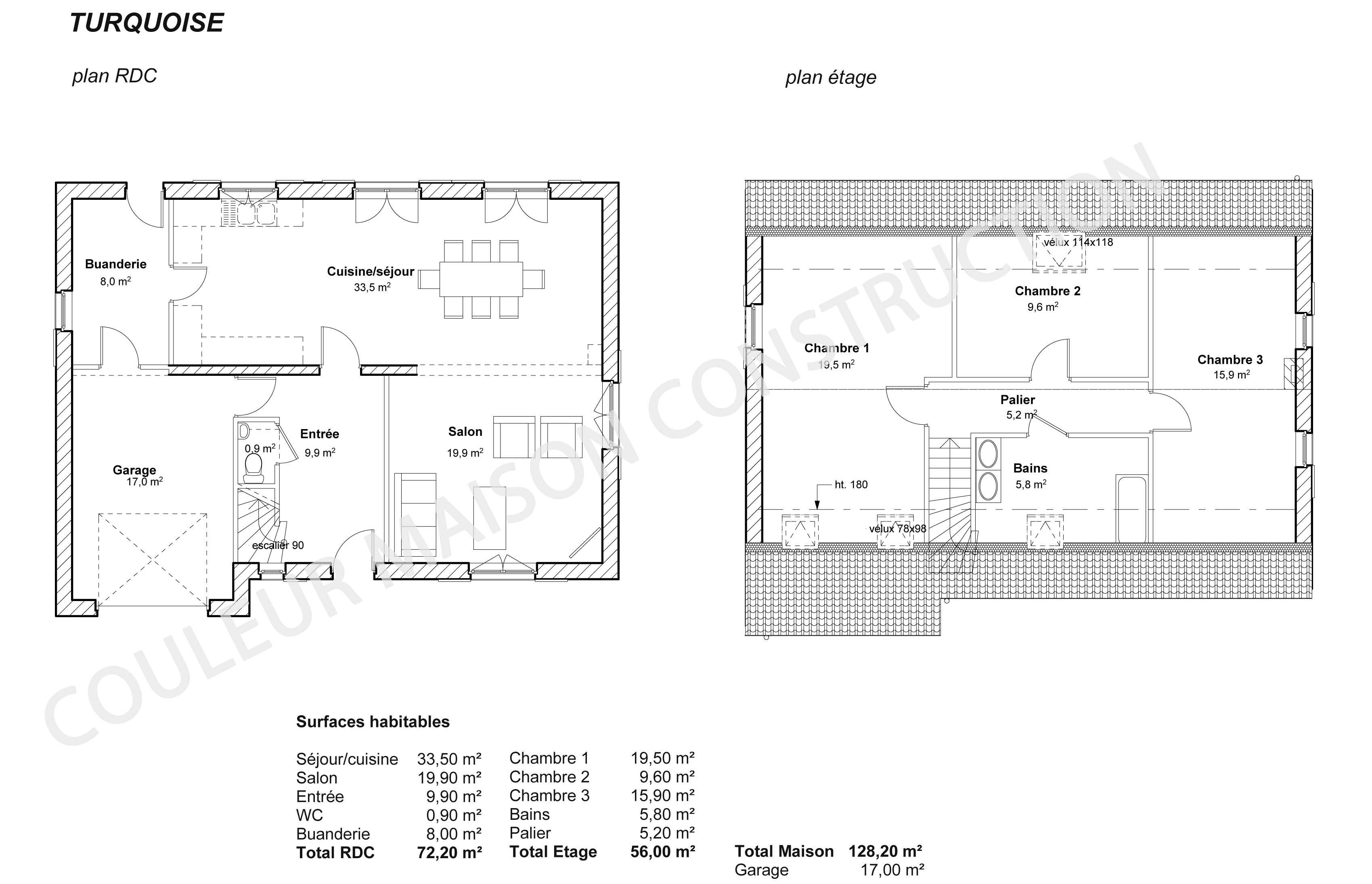 Plan maison etage pdf for Plan de construction de maison en ligne