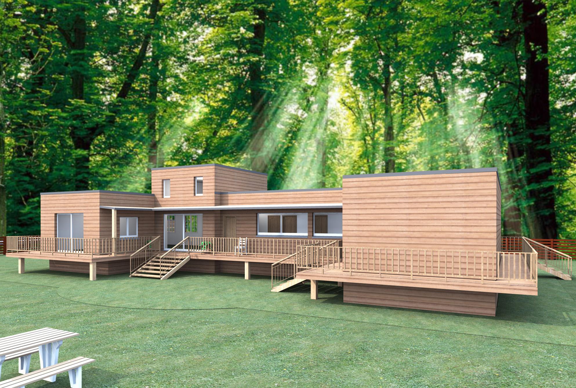 COULEUR MAISON CONSTRUCTION Notreétude pour une maison bois Ebene # Maison En Bois Nord