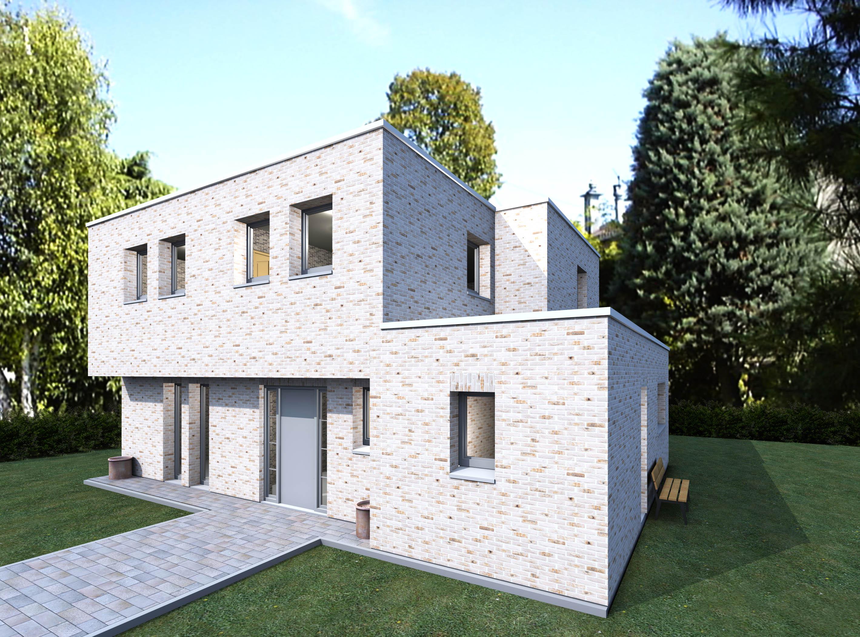Préférence COULEUR MAISON CONSTRUCTION: Notre étude Aurore (maison cubique) PF81