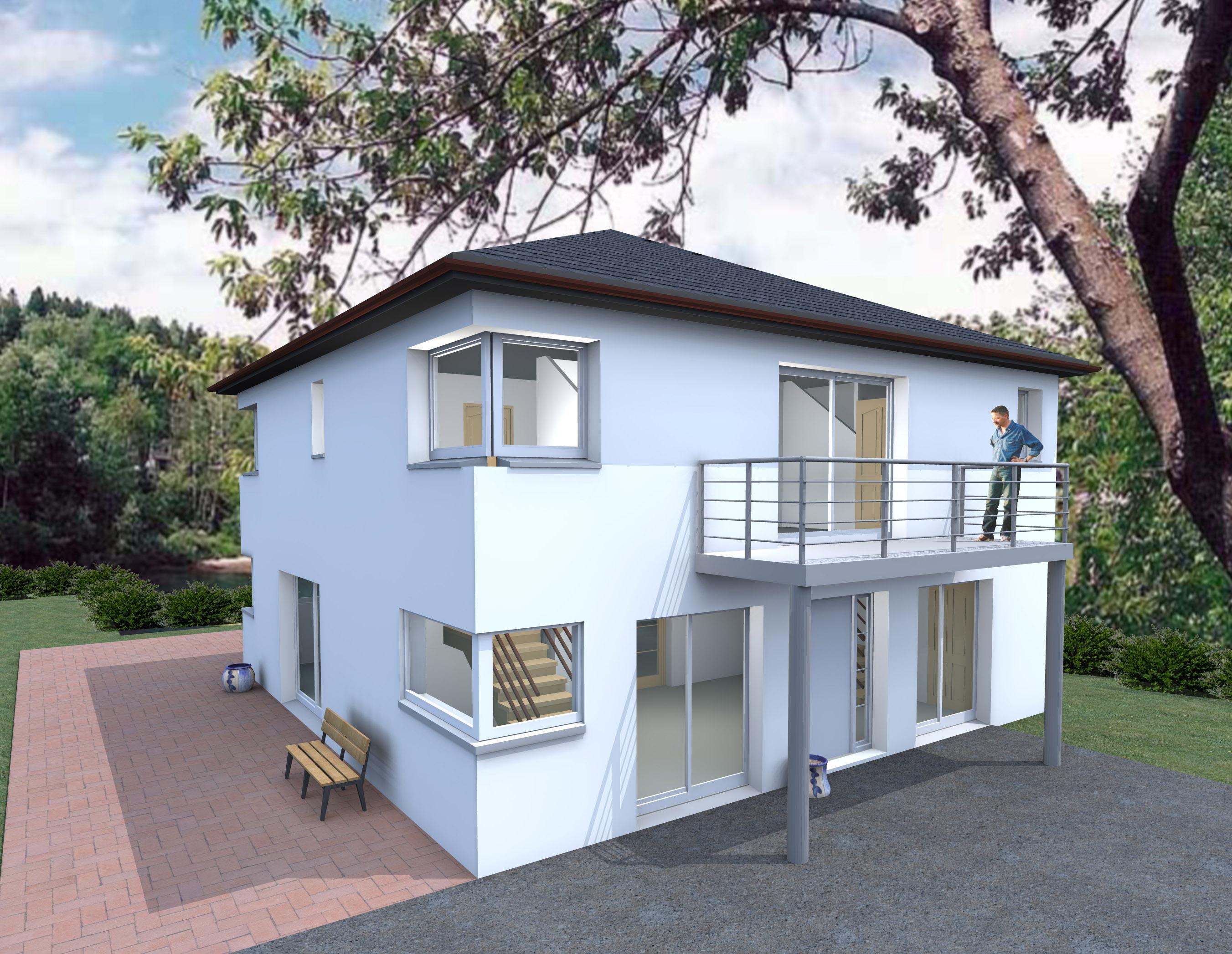 Modele de maison a etage moderne ventana blog for Modele maison contemporaine a etage