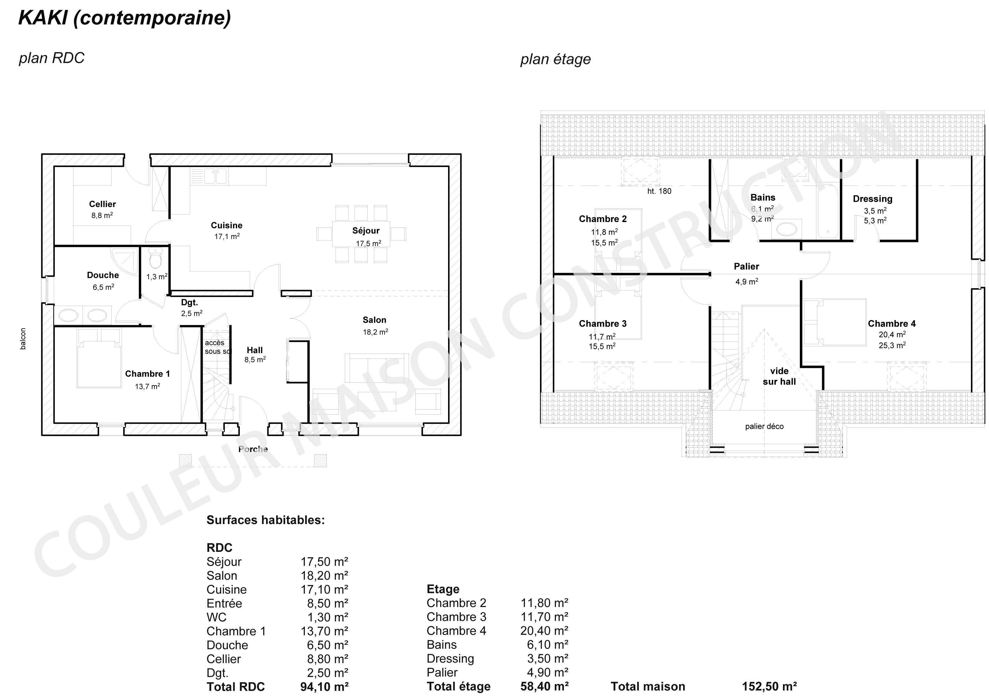 Plan De Maison Moderne couleur maison construction: le plan de maison de notre